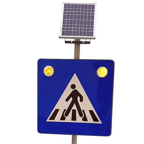 Indicator cu LED Trecere de pietoni și panou fotovoltaic