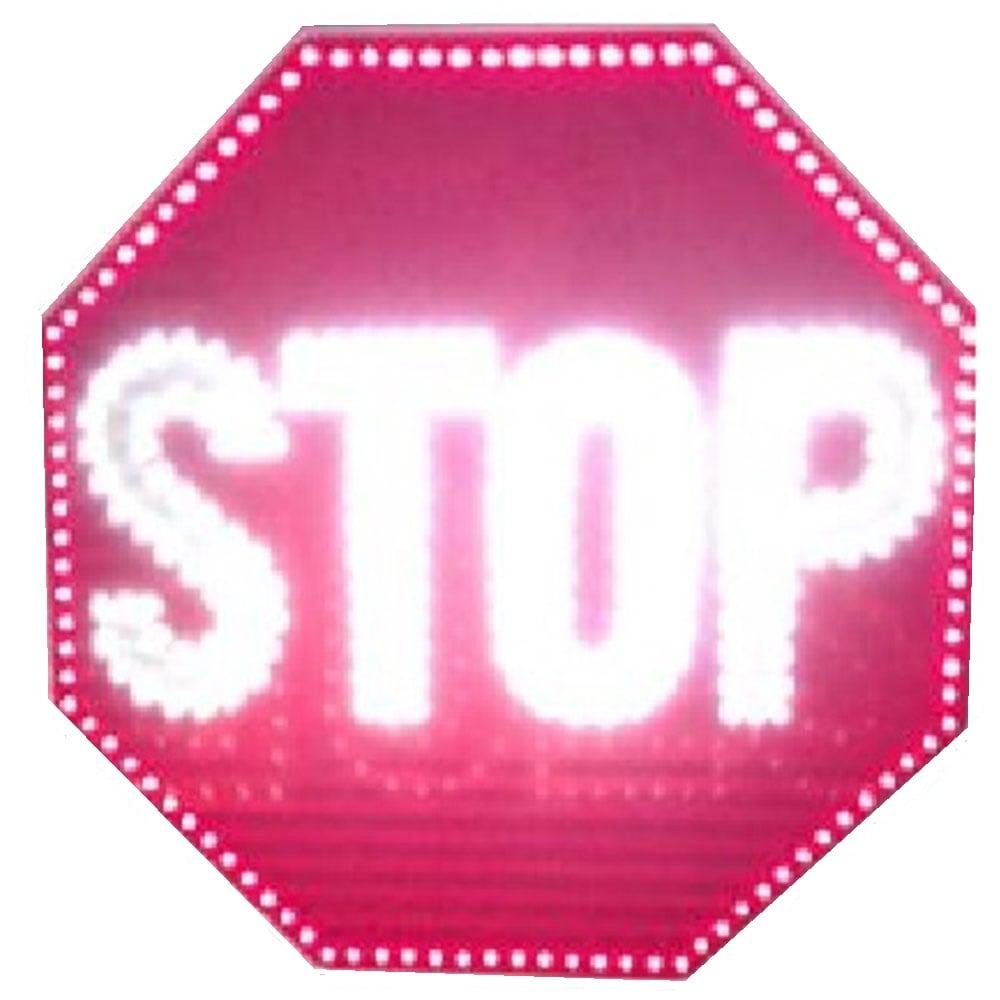 Indicator rutier STOP cu leduri